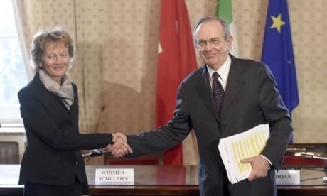 L'Italie et la Suisse signent à Milan un accord