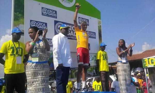Les dernières échappées de la 10e édition de la Tropicale Amissa Bongo ont eu lieu dimanche. Le Tunisien Rafaâ Chtioui est le grand vainqueur de cette édition, à Franceville. Ph : cyclismactu.net