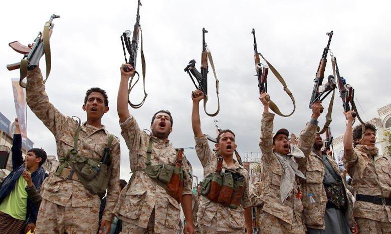 Des Yéménites pro-Houthis le 26 mars 2015 à Sanaa. Ph : AFP