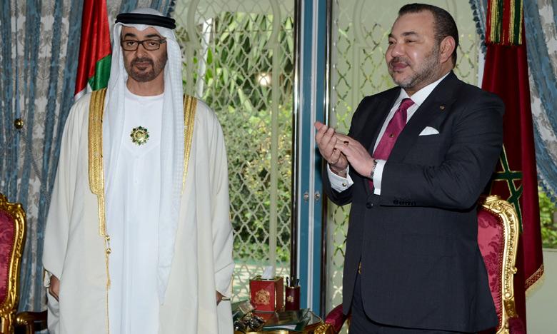 S.M. le Roi et S.A. Cheikh Mohammed Ben Zayed Al-Nahyane président la cérémonie de signature de plusieurs accords de coopération bilatérale