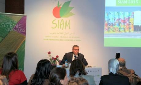 Le commissaire du SIAM, Jaouad Chami a ajouté que le Maroc est considéré comme un modèle pour l'Afrique en ce qui concerne le secteur agricole. Ph : MAP