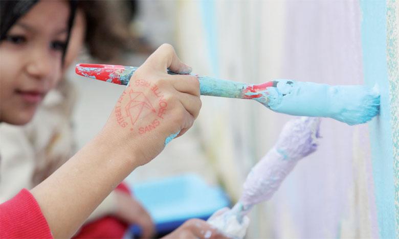 Street art sans frontières a mené une série d'ateliers avec les jeunes de Sidi Moumen.