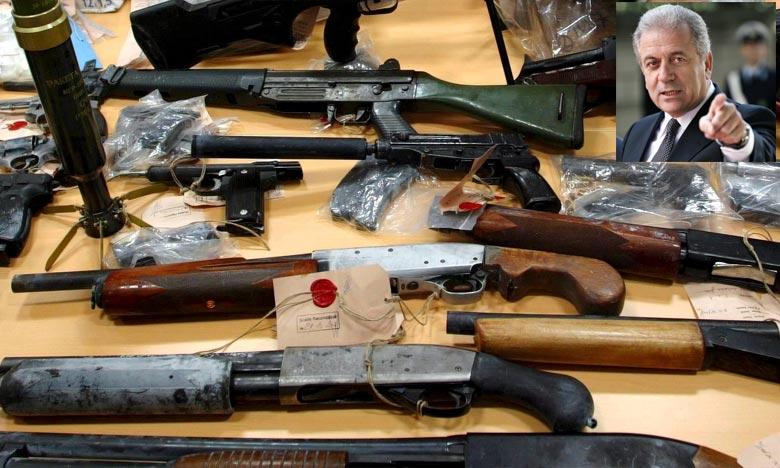 «Le trafic illicite d'armes à feu représente une menace croissante pour la sécurité des citoyens de l'UE et un commerce lucratif pour les bandes criminelles organisées», c'est ce qu' a ajouté Le commissaire européen. Ph : AFP