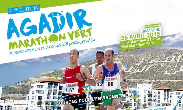 Le marathon international Agadir vert «le premier au Maroc et en Afrique». Sensibiliser les usagers à l'importance de réduire les émissions de gaz à effet de serre, en plus d'autres initiatives à caractère écologique. Ph : DR