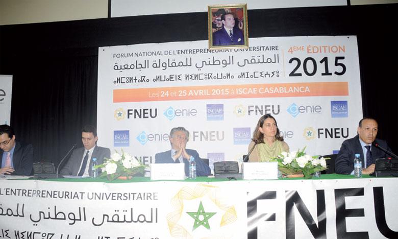 La finale a été organisée en marge du quatrième Forum national de l'entrepreneuriat universitaire.