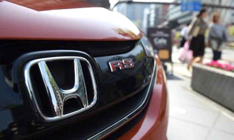 Une voiture Honda exposée au siège du constructeur à Tokyo. Ph : AFP