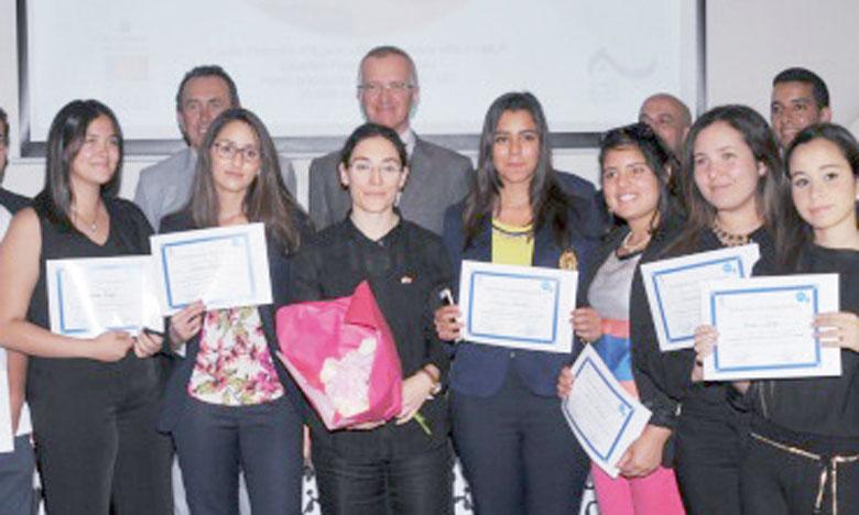 Des étudiants du lycée français  d'Agadir.