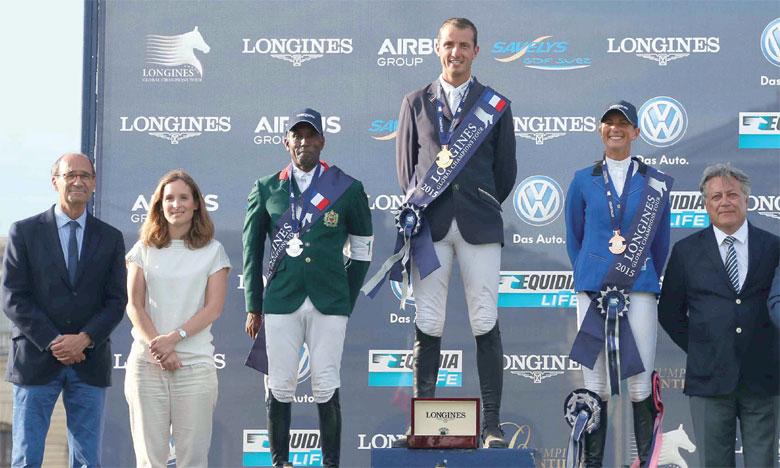 Abdelkébir Ouaddar (3e depuis la gauche) est passé tout près de sa première victoire sur le circuit de la saison.