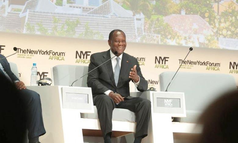«Il faut régler le problème à la racine : nous, les responsables africains, nous devons prendre les mesures nécessaires par rapport à notre jeunesse», a déclaré Alassane Ouattara en marge du NYFA à Libreville au Gabon. Ph : news.abidjan.net
