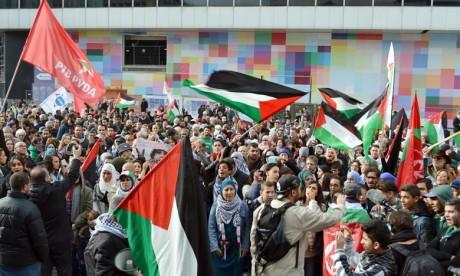 Grand rassemblement de solidarité à Bruxelles
