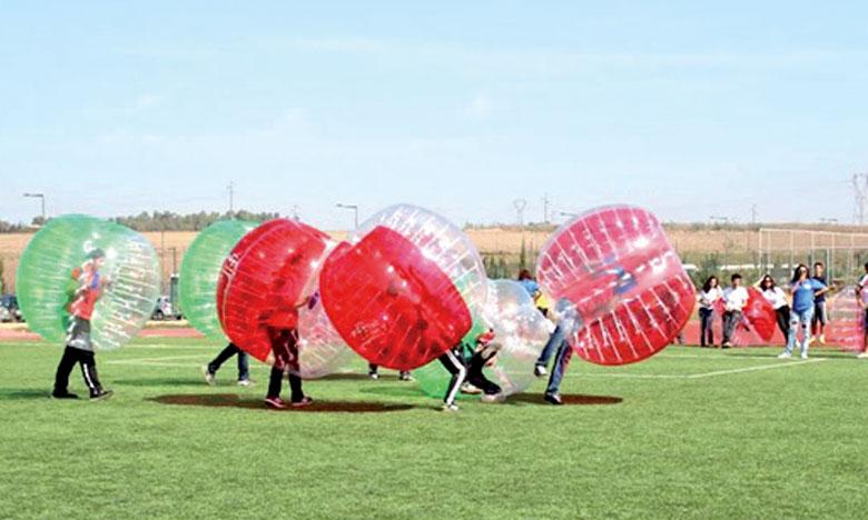 Marquer un but au bubble foot n'a rien de facile et les scores sont souvent identiques à ceux du football dit classique.