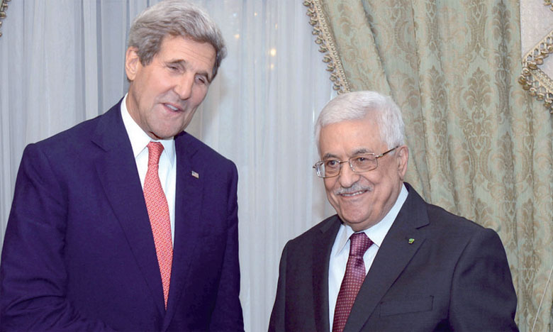 John Kerry et Mahmoud Abbas.