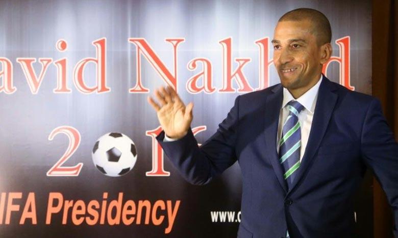 David Nakhid, ex-capitaine de l'équipe de Trinité-et-Tobago, lors d'une conférence de presse, à Beyrouth . Ph : AFP