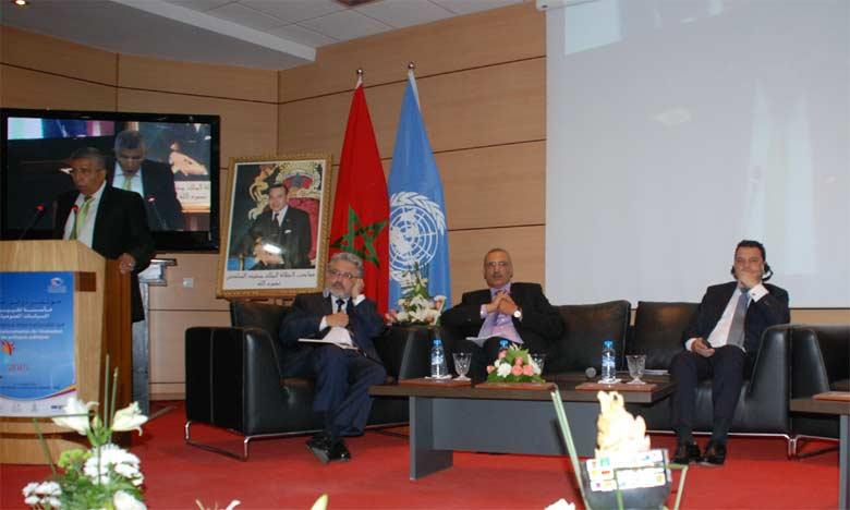 La conférence internationale sur l'évaluation des politiques publiques présidée par Rachid Belmokhtar. Ph. Kartouch