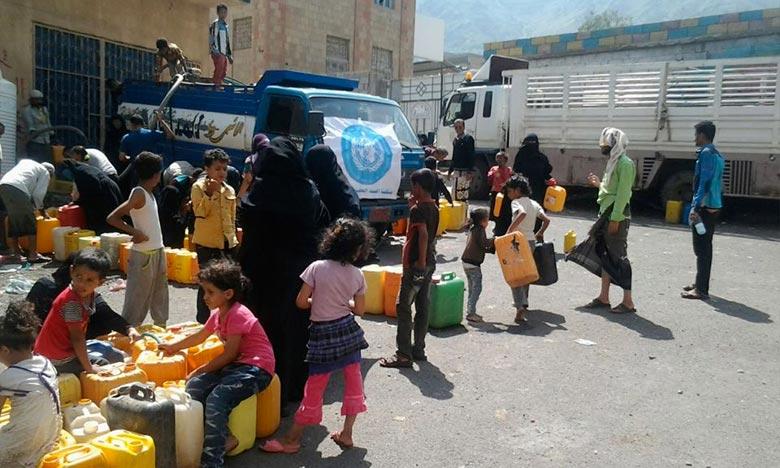 L'aide entre au compte-goutte à Taëz, devenue le symbole de l'enlisement d'un conflit entre combattants progouvernementaux, soutenus par l'Arabie, et les houthis, alliés de l'ex-président Ali Abdallah Saleh. Ph : OMS