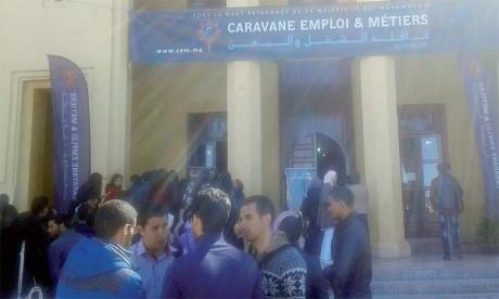 Forte affluence à Marrakech  pour la caravane «Emploi et Métiers»
