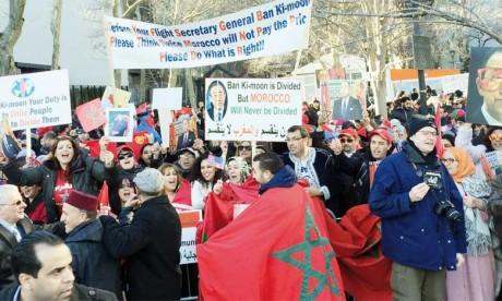 Les MRE des États-Unis manifestent devant le siège de l'ONU pour dénoncer la partialité Ban Ki-moon