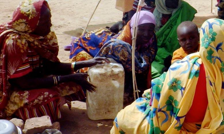 Des femmes et des enfants déplacés suite à une escalade du conflit dans la région du Jebel Marra, dans l'Etat du Nord Darfour, ont trouvé refuge à Tawilla. Ph : OCHA