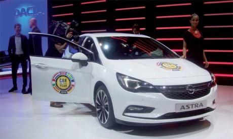 Opel Astra sacrée «Voiture de l'année 2016»