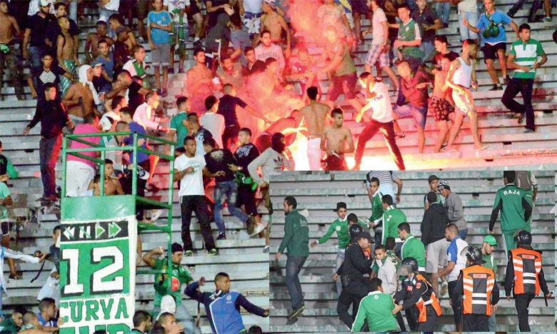 Les affrontements ont éclaté entre des supporters du Raja juste après la victoire de leur équipe, ce qui a causé plusieurs blessures et la dégradation de biens publics et privés. Ph : DR