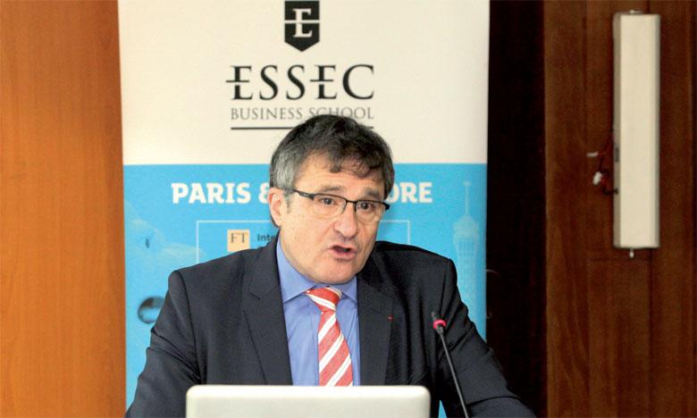 Le directeur de l'ESSEC Afrique-Atlantique, Thierry Sibieude, a présenté le projet pédagogique  de l'école au Maroc.