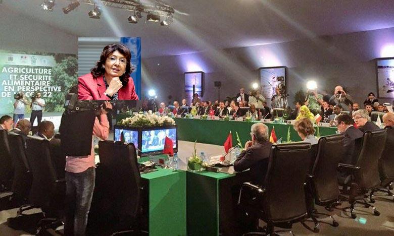 «Nous devons relever les défis environnementaux posés, en vue de produire plus et mieux avec une agriculture à bas carbone», a plaidé Maria Helena Semedo. Ph : DR