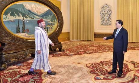 Le Souverain reçoit le président du Comité permanent de l'Assemblée populaire nationale de Chine