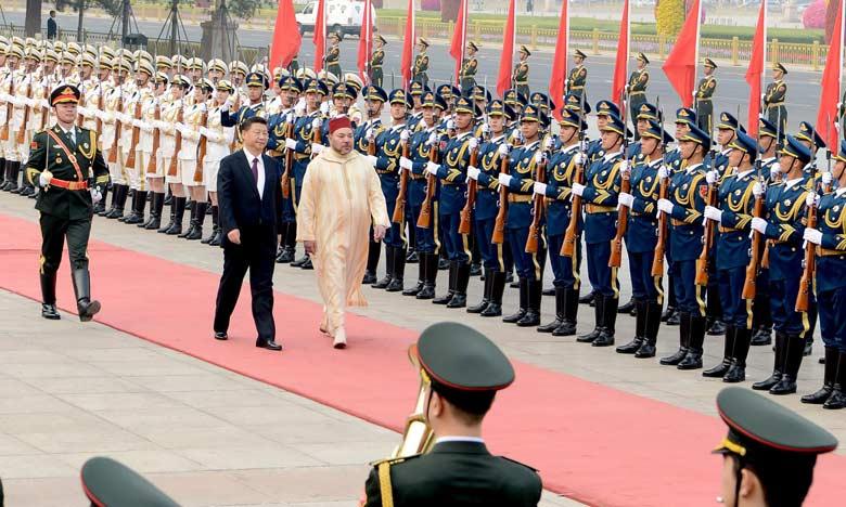 Le Président chinois réserve une cérémonie d'accueil officielle à S.M. le Roi Mohammed VI à Pékin