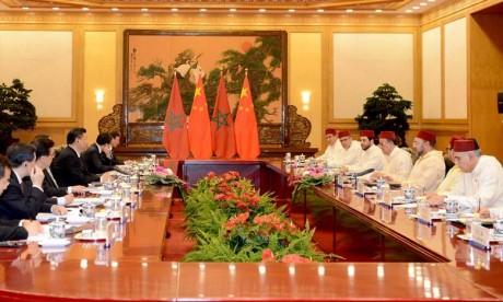Entretiens à Pékin entre S.M. le Roi Mohammed VI et le Président chinois