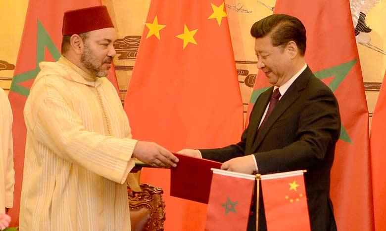 S.M. le Roi et le Président chinois signent à Pékin la déclaration conjointe concernant l'établissement d'un partenariat stratégique entre les deux pays