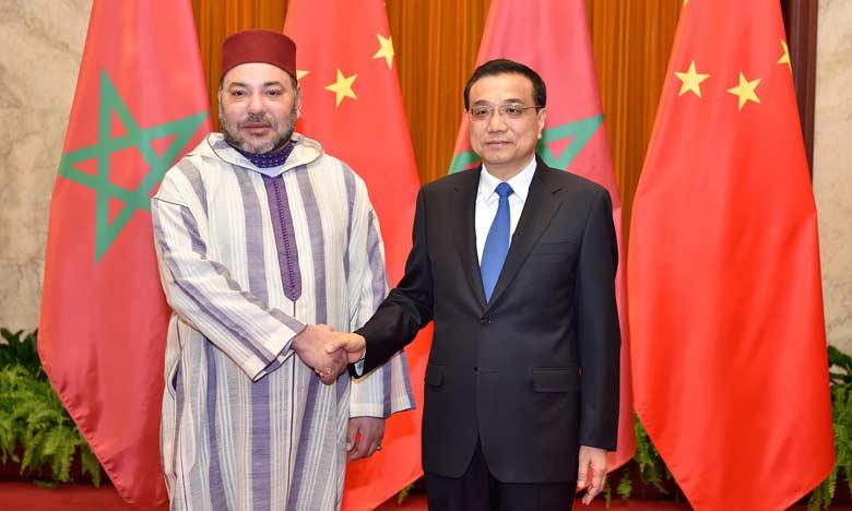 En visite officielle en Chine, S.M. le Roi reçoit le Premier ministre chinois