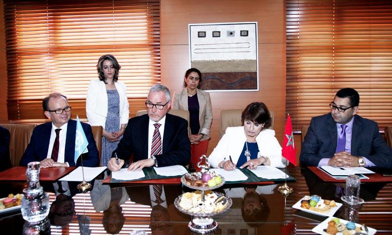 La signature de cette convention reflète l'importance accordée par le Maroc à la coopération avec la FAO et sera une plateforme pour tirer profit des expériences des deux parties. Ph : MAP