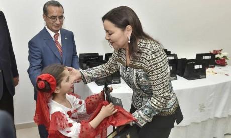 S.A.R. la Princesse Lalla Asmae préside à Rabat la cérémonie de fin d'année scolaire de la Fondation Lalla Asmae pour enfants et jeunes sourds