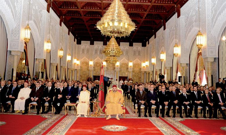 8 avril 2016 : S.M. le Roi Mohammed VI, accompagné de S.A.R. le Prince Héritier Moulay El Hassan, préside, à Rabat, la cérémonie  de lancement du nouveau projet du groupe Renault au Maroc «Ecosystème Renault».Ph. MAP