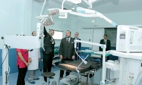 14 février2016: S.M. le Roi inaugure et lance d'importants projets médicaux au niveau du CHU Ibn Rochd à Casablanca.
