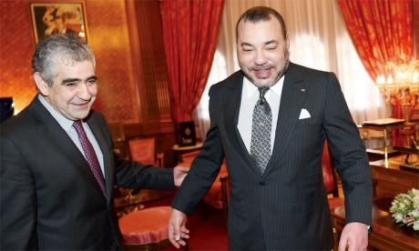 16 mars2015 : S.M. le Roi Mohammed VI reçoit en audience, Driss El Yazami, président du Conseil national des droits de l'Homme.Ph. MAP