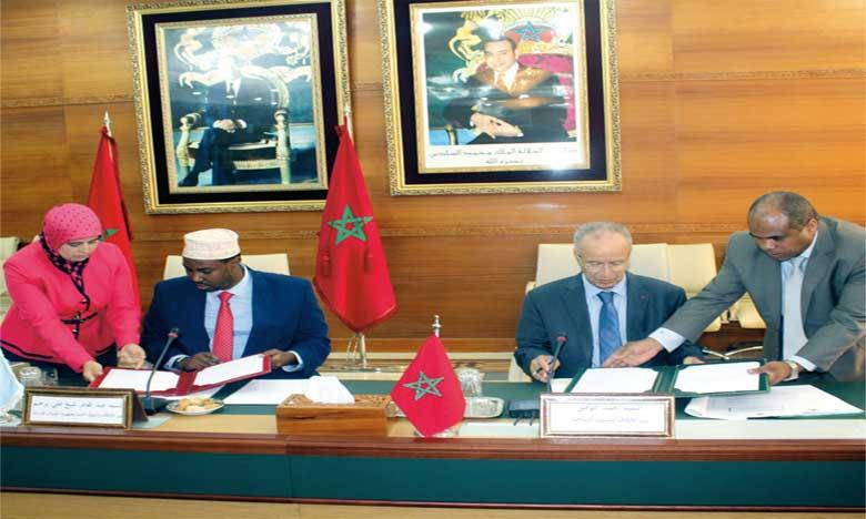 Signature d'un accord de coopération dans le domaine religieux