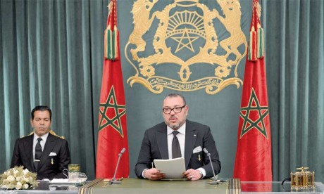 6 novembre2015 : S.M. le Roi Mohammed VI adresse un discours à la Nation à l'occasion du 40e anniversaire de la Marche Verte.