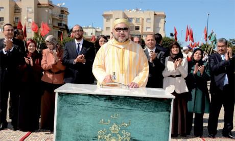 11 mars2016: S.M. le Roi procède, à Rabat, au lancement de plusieurs projets médico-sociaux, réalisés dans le cadre de l'Initiative nationale pour le développement humain.Ph. MAP