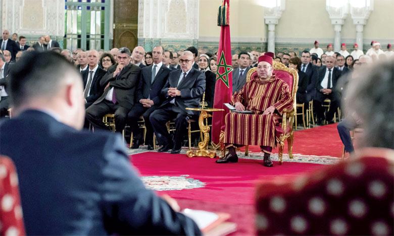4 juillet 2016 : S.M. le Roi Mohammed VI préside, à Casablanca, la cérémonie de lancement du nouveau plan de réforme  de l'investissement.Ph. MAP