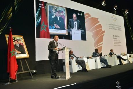 Abdellatif Komat, doyen de la FSJES de Casablanca, intervenant à l'occasion de la rencontre internationale organisée le 22 juillet par le Groupe le Matin.
