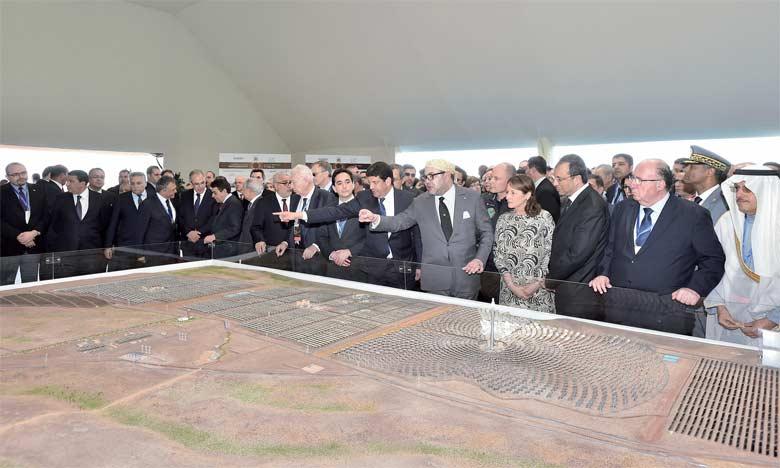 4 février 2016 : S.M. le Roi Mohammed VI lance les travaux de réalisation de la 2e et 3e centrale du complexe solaire «Noor Ouarzazate».