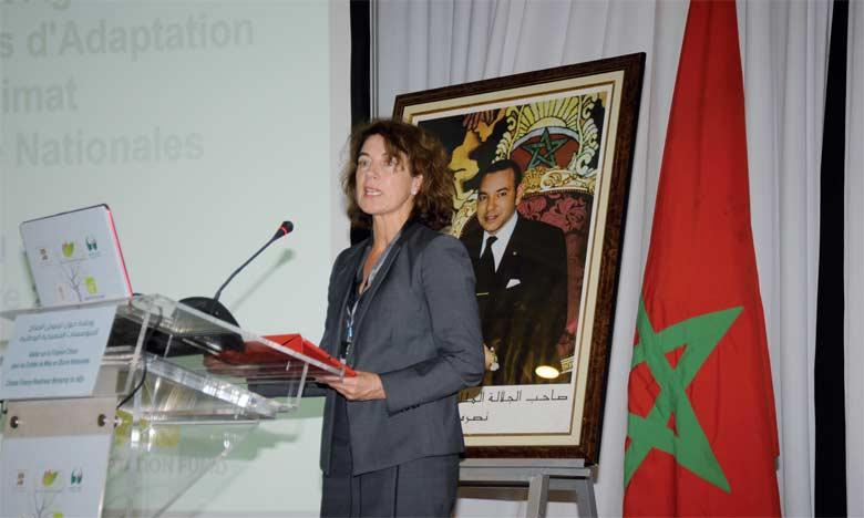Marcia Levaggi, directrice exécutive du Fonds, s'est félicitée des efforts consentis par le Royaume en matière d'adaptation aux changements climatiques. Ph. Kartouch