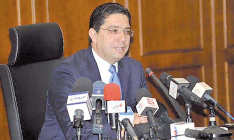 Le ministre délégué auprès du ministre des Affaires étrangères et de la coopération, Nasser Bourita.