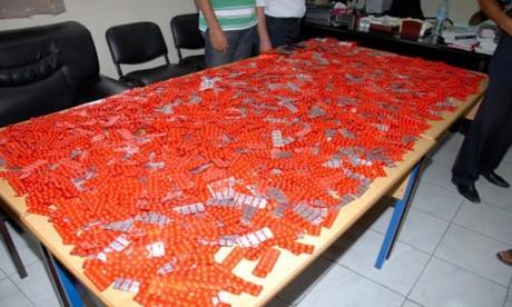 Deux suspects arrêtés à Tanger et saisie de 3.990 comprimés psychotropes