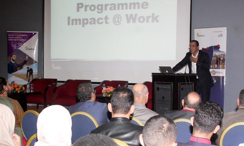 «Impact@Work» a pour objectif de permettre aux jeunes entrepreneurs de transformer leurs projets en startups à fort impact. Ph : MAP