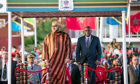 Arrivée de S.M. le Roi à Dar es Salam pour une visite officielle en Tanzanie