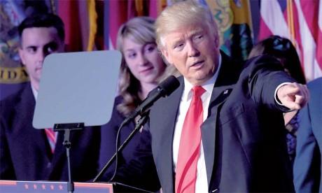 Donald Trump déclaré vainqueur et appelle à l'unité