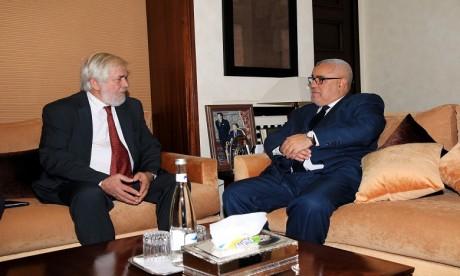 Le président du Comité a exprimé sa satisfaction quant à l'excellence de la coopération qui existe entre le CES européen et marocain. Ph. MAP