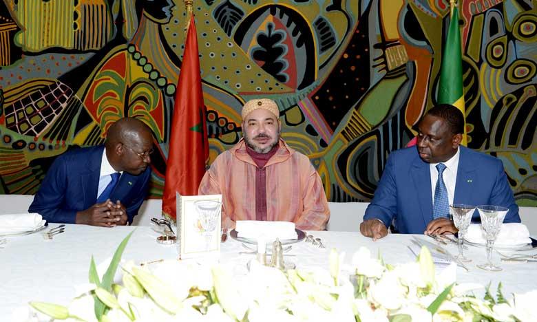 Le Président sénégalais offre un déjeuner officiel en l'honneur de Sa Majesté le Roi Mohammed VI